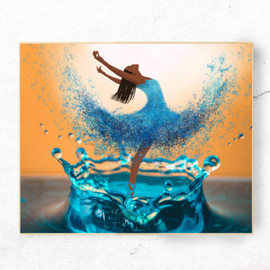 emerging ballerina art print