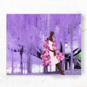 purple leaves art print