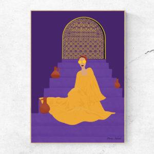 hijabi girl art print