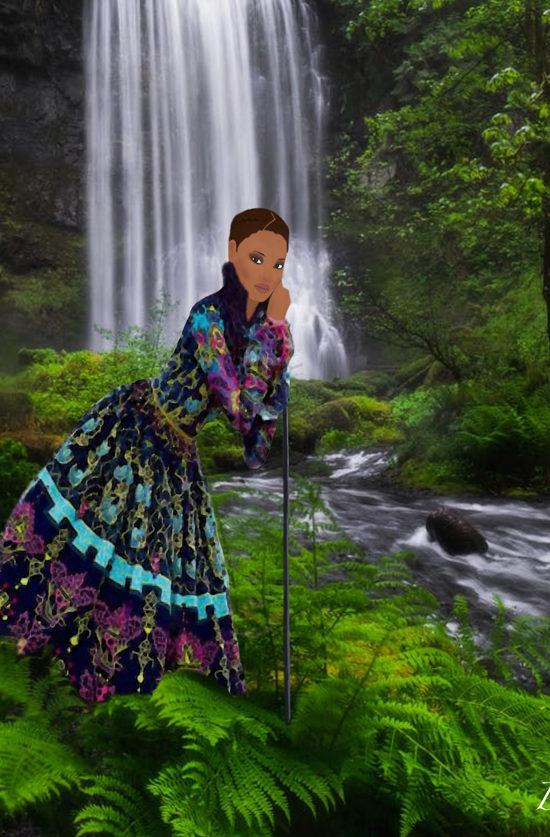 mixed girl fashion illustration
