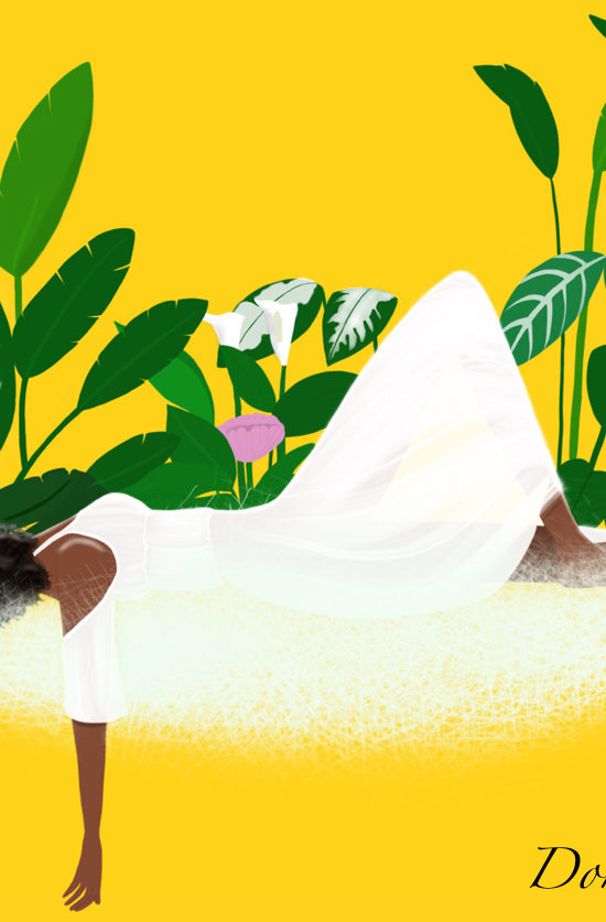 black woman resting illustration