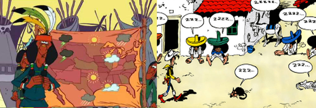 Lucky Luke Indians and Mexican Stereotypes