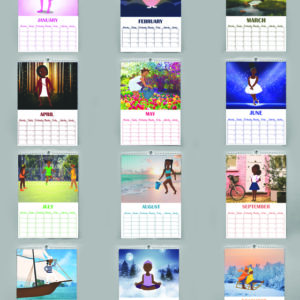 little black girl calendar illustrations
