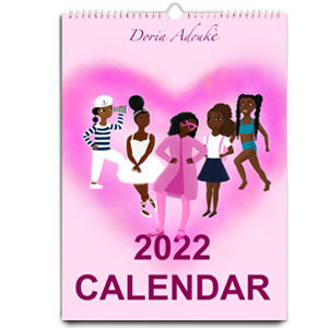little black mixed girl calendar gift for black kids