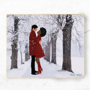 mixed couple art print