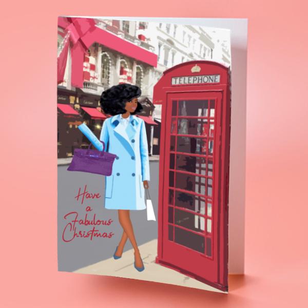 black girl christmas card