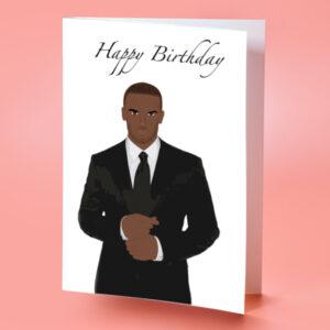 Black Man Birthday Card
