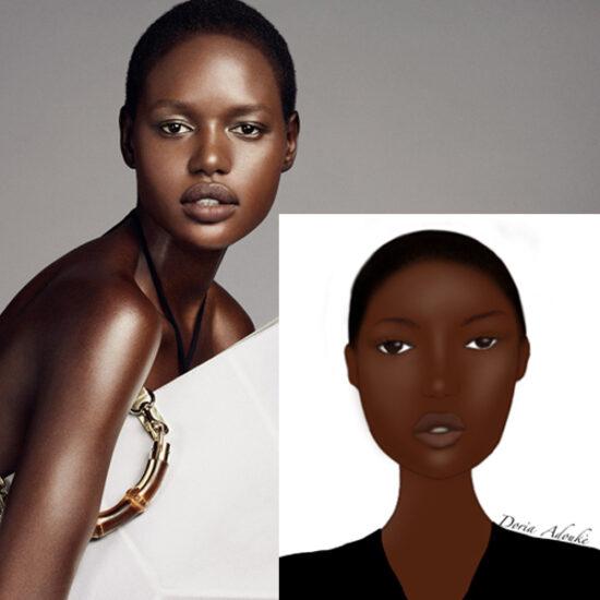 black woman personalised portrait