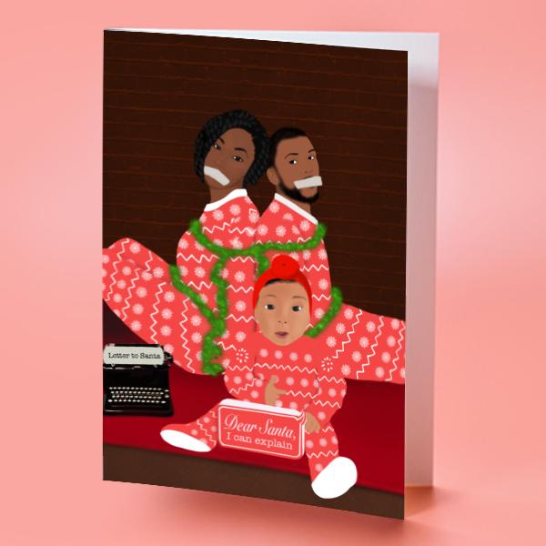 Black Family Christmas Card