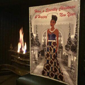 fashion illustration christmas card
