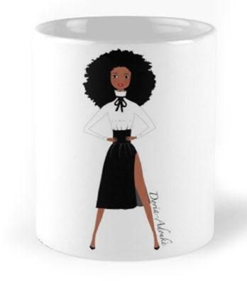 black girl mug
