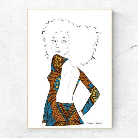 afro asian art print