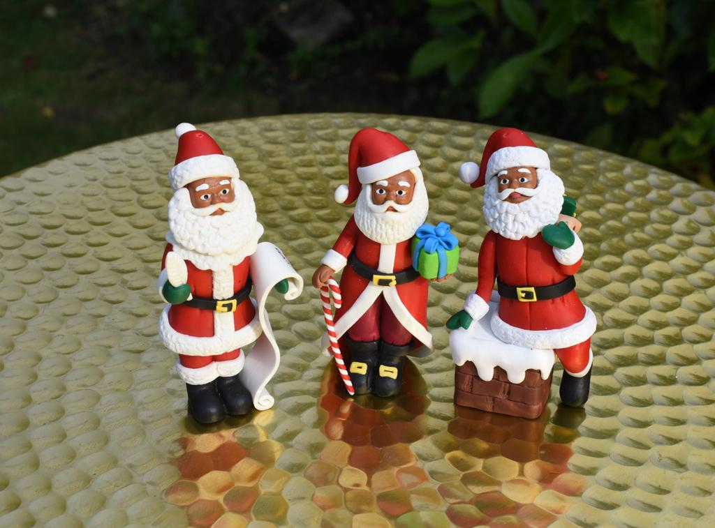 Black Santa decoration